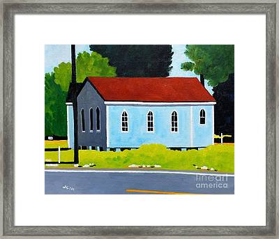 Church, Dailsville Rd Framed Print by Lesley Giles