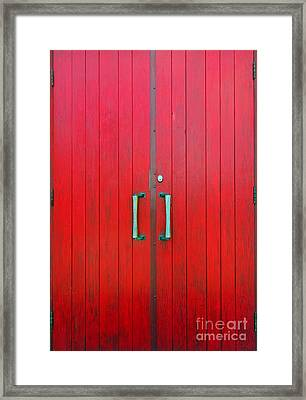 Framed Print featuring the photograph Church Door by Ethna Gillespie