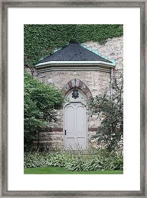 Church Door Framed Print by Lauri Novak