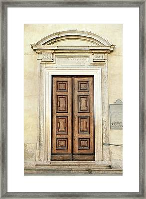 Church Door Framed Print by Valentino Visentini