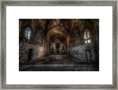 Church Empty Framed Print by Nathan Wright
