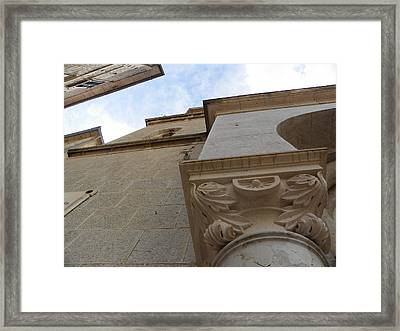 Church Facade Detail Framed Print