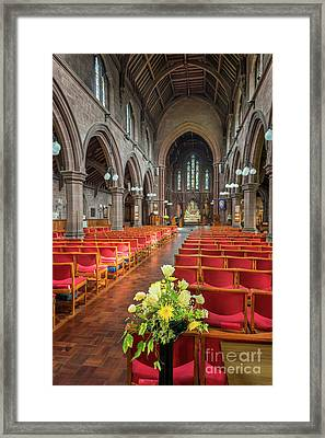 Church Flowers Framed Print by Adrian Evans