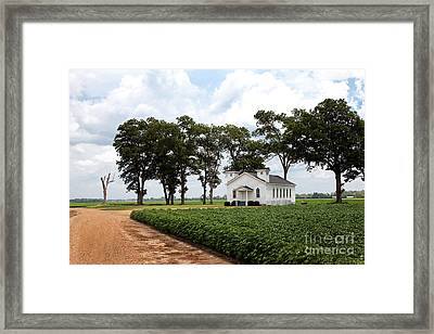 Framed Print featuring the photograph Church From The Help Movie In Mississippi by T Lowry Wilson