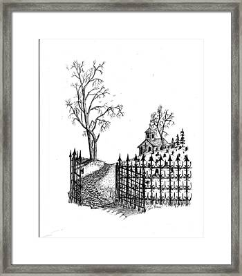 Church Grounds Framed Print by Jack G  Brauer