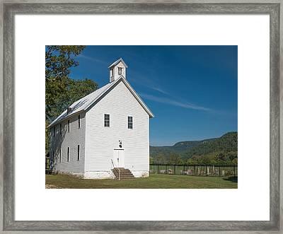 Church House In The Ozarks Framed Print