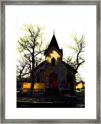 Framed Print featuring the digital art Church I by Stuart Turnbull
