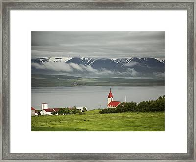 Church In Akureyri Framed Print