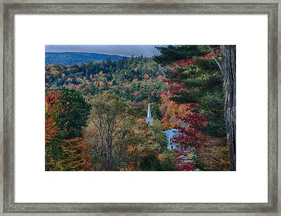 Church In Autumn Framed Print by Jeff Folger