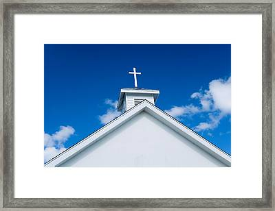 Church In Bahamas Framed Print by Richard Steinberger