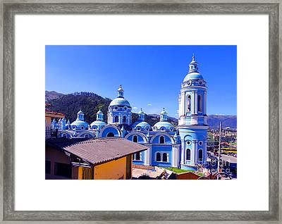Church In Banos Ecuador Framed Print by Al Bourassa