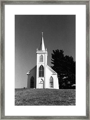Church In Bodega Framed Print