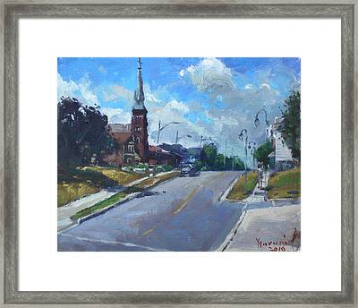 Church In Georgetown Downtown  Framed Print