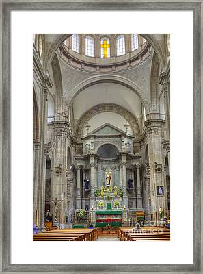 Church In Guanajuato Framed Print by Juli Scalzi