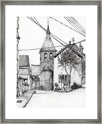 Church In Laignes Framed Print by Vincent Alexander Booth