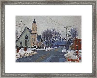 Church In North Tonawanda Framed Print by Ylli Haruni