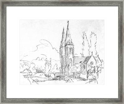 Church In North Vancouver Framed Print