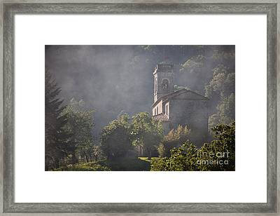 Church In Partigliano Framed Print by Steven Gray