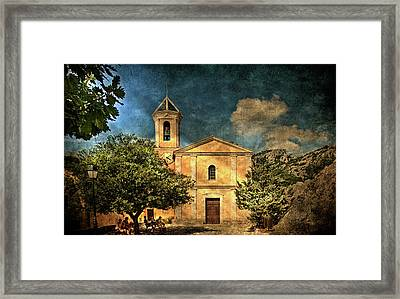 Church In Peillon Framed Print