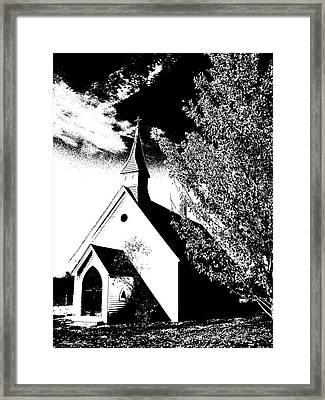 Church In Shadows Framed Print