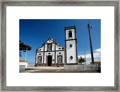 Church In The Azores Framed Print by Gaspar Avila