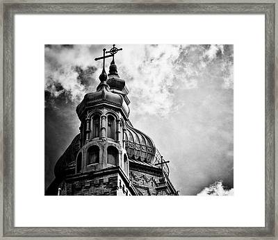 Church In The Clouds Framed Print by Sheryl Thomas
