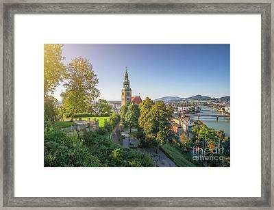 Church In The Green Framed Print