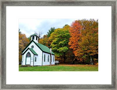 Church In The Wildwood Framed Print by Todd Hostetter