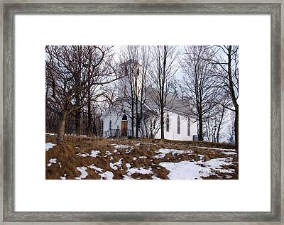 Church In The Woods Framed Print by Margaret Hamilton