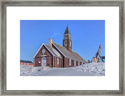 church of Ilulissat - Greenland Framed Print by Joana Kruse