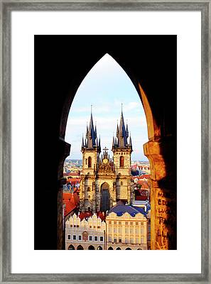 Framed Print featuring the photograph Church Of Our Lady Before Tyn by Fabrizio Troiani
