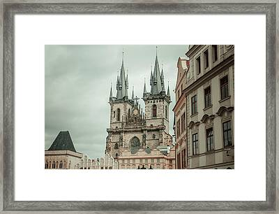 Framed Print featuring the photograph Church Of Our Lady Before Tyn by Jenny Rainbow