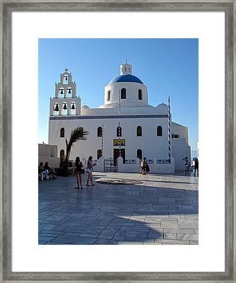 Church Of Panagia Platsani Framed Print by Martine Murphy