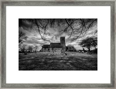Church Of St Botolph Churchyard Framed Print by Nigel Bangert