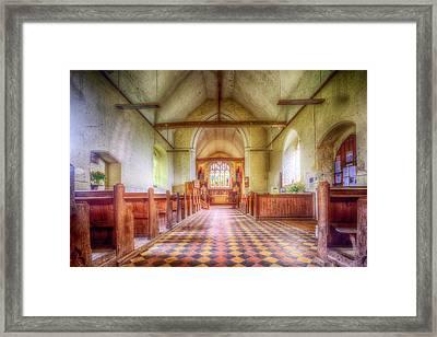 Church Of St Botolph Interior Framed Print by Nigel Bangert