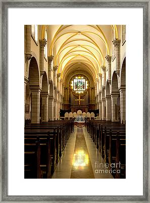 Church Of St Catherine In Bethlehem Framed Print by Adriana Zoon