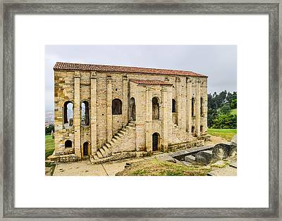 Church Of St Mary At Mount Naranco Year 848 Framed Print