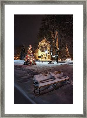 Framed Print featuring the photograph Church Of St Mary St Paul At Christmas by Kendall McKernon