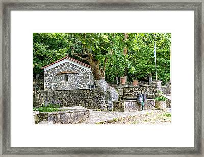 Church Of St. Paraskevi Framed Print by Apostolis Efstathopoulos