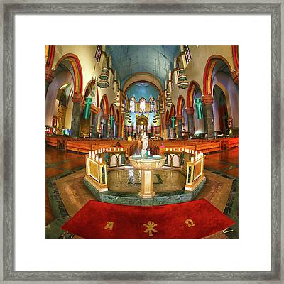 Framed Print featuring the photograph Church Of St. Paul The Apostle by Mitch Cat
