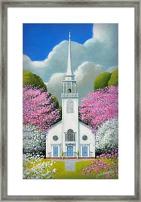 Church Of The Dogwoods Framed Print