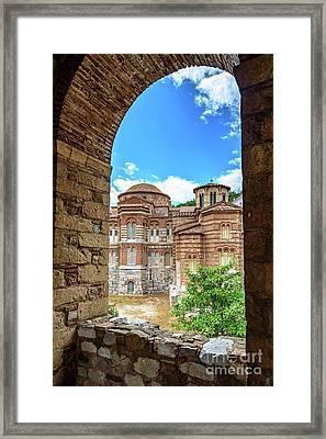 Church Of The Holy Luke At Monastery Of Hosios Loukas In Greece Framed Print