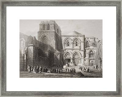 Church Of The Holy Sepulchre Framed Print by Vintage Design Pics
