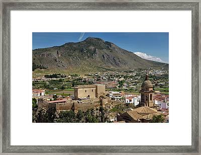 Church Of The Incarnation Belfry And Moorish Alcazaba Fortress U Framed Print by Reimar Gaertner