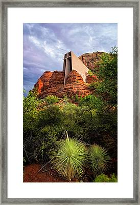 Church Of The Red Rocks Framed Print by Ron McGinnis