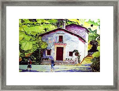 Church Of The Roses Italy Framed Print by Tom Herrin