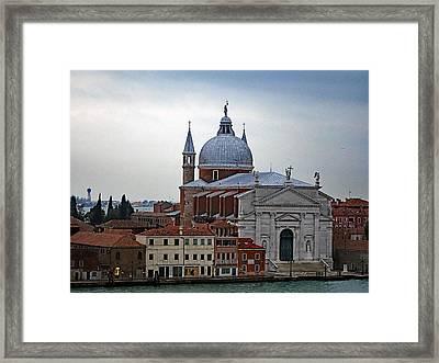 Church Of The Santissimo Redentore On Giudecca Island In Venice Italy Framed Print