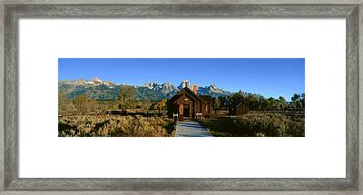 Church Of Transfiguration, Grand Teton Framed Print by Panoramic Images