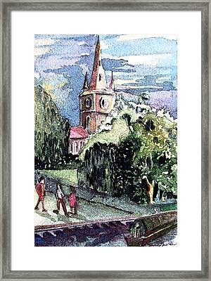 Church Of William Shakespeare Framed Print by Mindy Newman