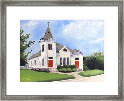 Church On 12th South, Nashville Framed Print
